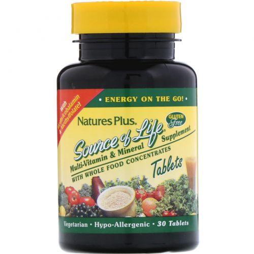 Nature's Plus, «Источник жизни», мультивитамины и микроэлементы, 30 таблеток