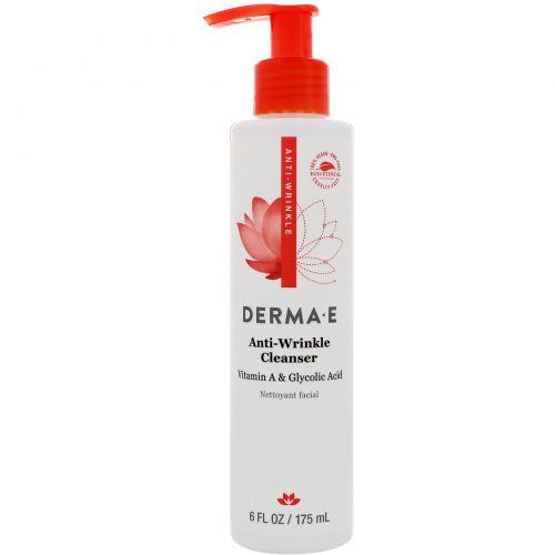 Derma E, Гликолевое очищающее средство с витамином А и папайей против морщин, 6 жидких унций (175 мл)