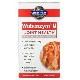 Wobenzym, Вобэнзим N, здоровье суставов, 400 таблеток, покрытых желудочно-резистентной оболочкой