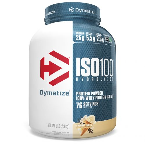 Dymatize Nutrition, ISO•100 Hydrolyzed 100% Whey Protein Isolate, Gourmet Vanilla, 5 lbs (2.27 kg)