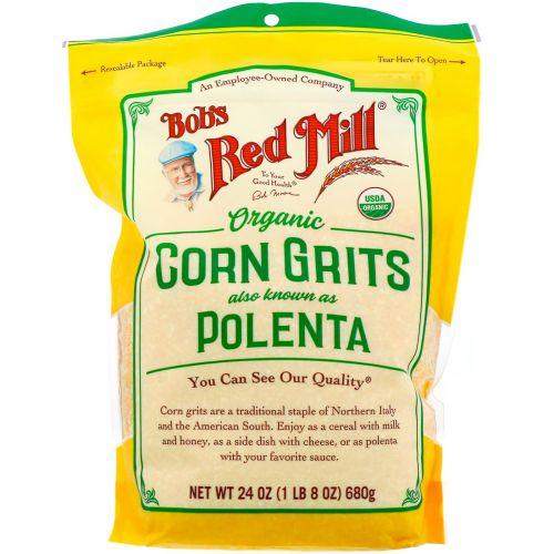 Bob's Red Mill, Органическая кукурузная крупа (полента), 680г (24унции)