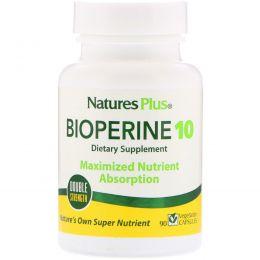 Nature's Plus, Биоперин 10, 90 вегетарианских капсул