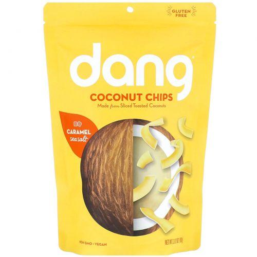Dang Foods LLC, Обжаренные кокосовые чипсы, карамель и морская соль, 90 г (3,17 унции)