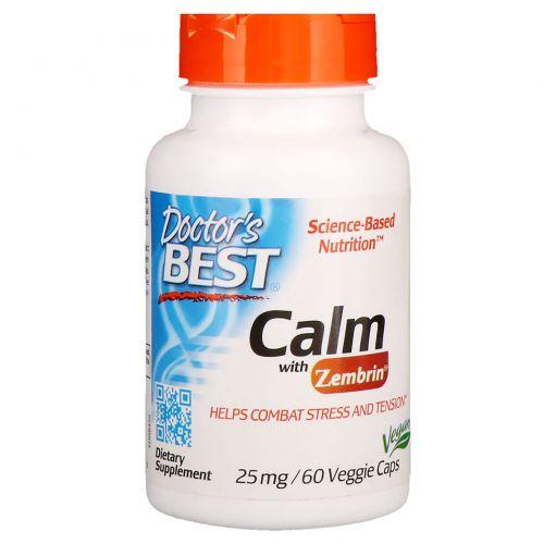 Doctor's Best, Успокаивющий Зембрин, 25 мг, 60 Растительных капсул