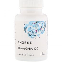 Thorne Research, PharmaGABA-100, 60 вегетарианских капсул