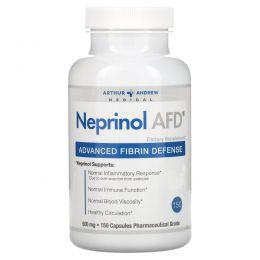 Arthur Andrew Medical, Непринол AFD, Улучшенная защита от фибрина, 500 мг, 150 капсул
