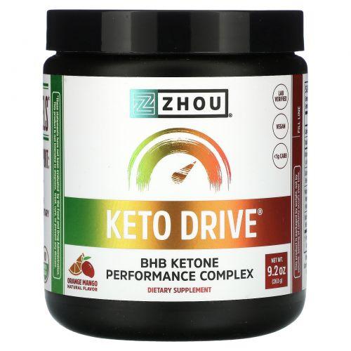 Zhou Nutrition, Keto Drive, апельсин манго, 8,29 унц. (235 г)