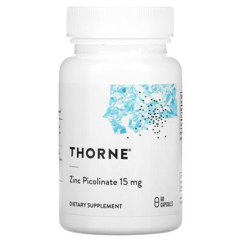 Thorne Research, Пиколинат цинка, 60 капсул