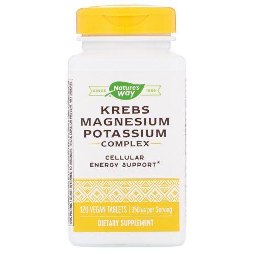 Enzymatic Therapy, Krebs Magnesium Potassium, биоактивный минеральный комплекс, 120 таблеток