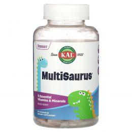 KAL, MultiSaurus, Vitamins & Minerals, Berry Flavor, 90 Chewables