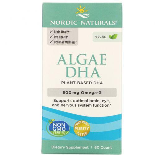Nordic Naturals, Algae DHA, 500 mg, 60 Soft Gels