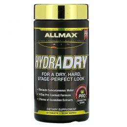 ALLMAX Nutrition, HydraDry, ультрамощное мочегонное + стабилизатор электролитов, 84 таблетки