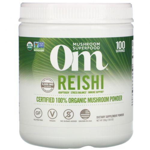 Organic Mushroom Nutrition, Рейши, грибной порошок, 7.14 унций (200 г)