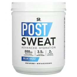 Sports Research, Post-Sweat Advanced Hydration, Blue Razz, 16.4 oz (465 g)