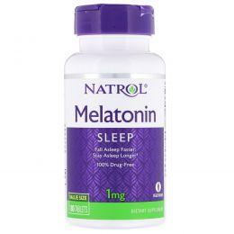 Natrol, Мелатонин, 1 мг, 180 таблеток