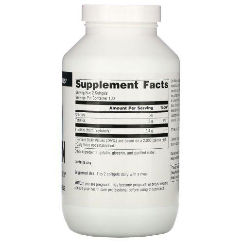 Source Naturals, Лецитин, 200 гелевых капсул