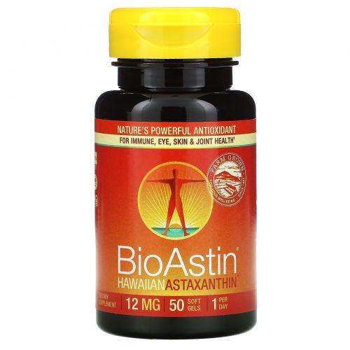 Nutrex Hawaii, BioAstin, 12 мг, 50 капсул