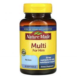Nature Made, Мультивитамины для мужчин, 60 гелевых капсул