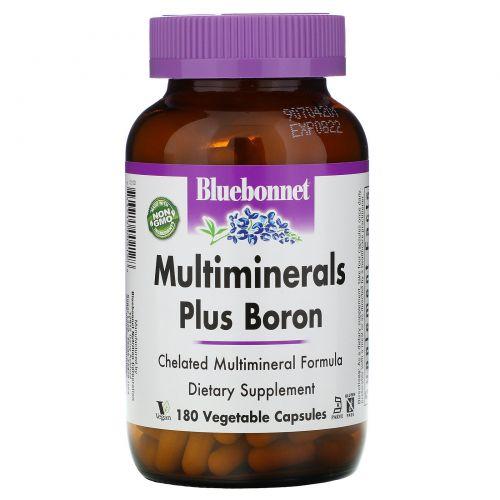 Bluebonnet Nutrition, Мультиминералы плюс бор, 180 растительных капсул