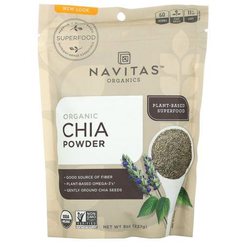 Navitas Organics, Органический порошок чиа, 8 унций (227 г)