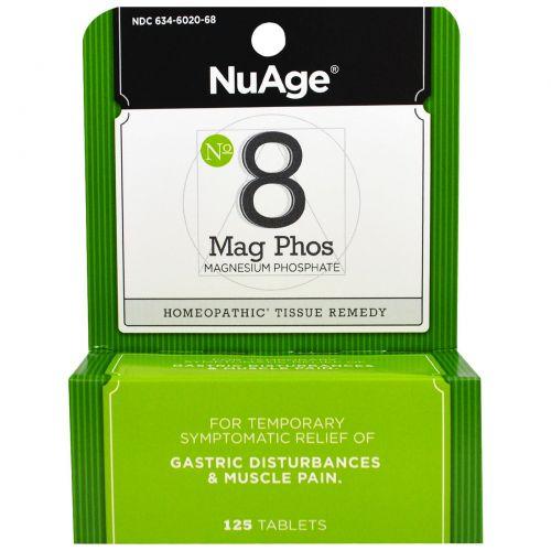 Hyland's, NuAge, #8 Мат Фос. (Фосфат Магния) 125 таблеток