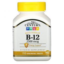 21st Century, B-12, 2500 мкг, 110 таблеток