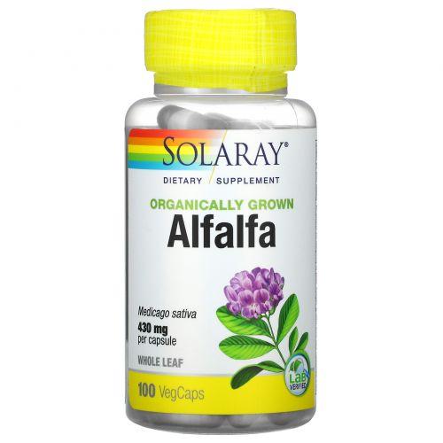 Solaray, Organically Grown Alfalfa, 430 mg, 100 VegCaps