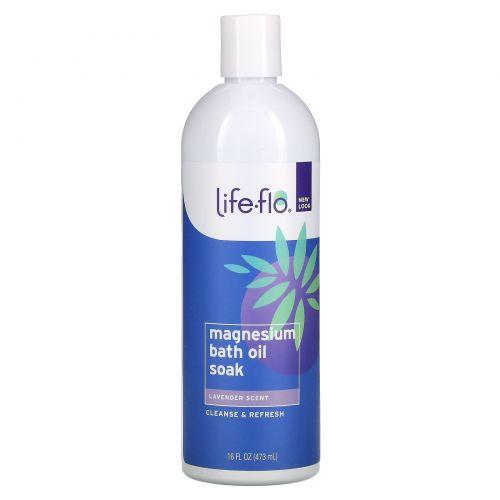 Life Flo Health, Magnesium Bath Oil Soak, Lavender, 16 fl oz (473 ml)