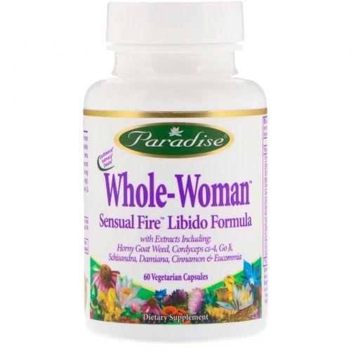 Paradise Herbs, Whole-Woman, Чувственный огонь, формула для либидо, 60 вегетарианских капсул