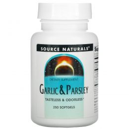 Source Naturals, Чеснок и петрушка, 250 гелевых капсул