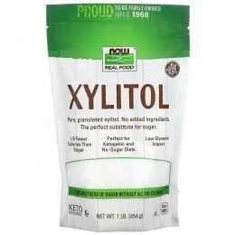 Now Foods, Real Food, Ксилитол, 1 фунт (454 г)