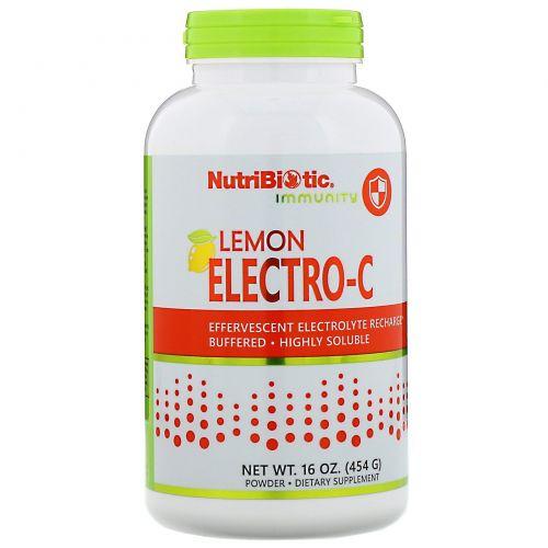 NutriBiotic, Буферизованный электролитный витамин C, с лимонным вкусом, 16 унций (454 г)