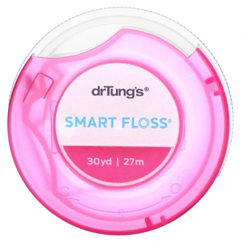 Dr. Tung's, Smart Floss, зубная нить с натуральным ароматизатором кардамона, 30 ярдов (27 м)