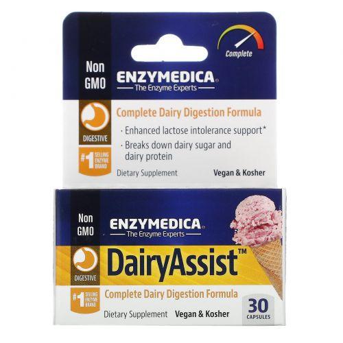 Enzymedica, DairyAssist, 30 капсул