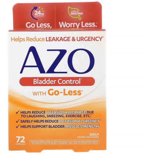 Azo, Bladder Control with Go-Less, 72 капсул
