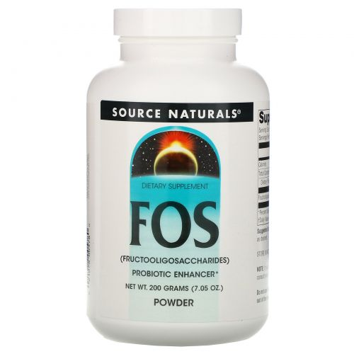 Source Naturals, Порошок FOS, 7.05 унций (200 г)