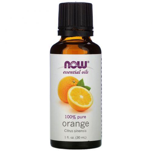 Now Foods, Эфирное масло, апельсин, 1 жидкая унция (30 мл)