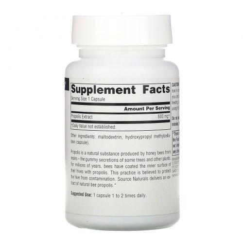 Source Naturals, Экстракт прополиса, 500 мг, 60 капсул
