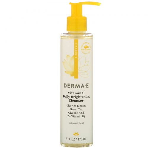 Derma E, Even Tone Brightening Cleanser, 6 fl oz (175 ml)