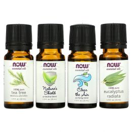 Now Foods, Seasonal Changes, Balancing Essential Oils Kit, 4 Bottles, 1/3 fl oz. (10 ml) Each