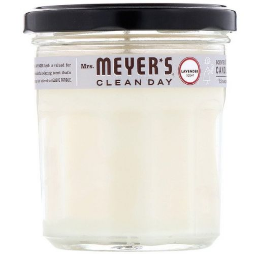 Mrs. Meyers Clean Day, Ароматические соевые свечи, с запахом лаванды, 7,2 унции