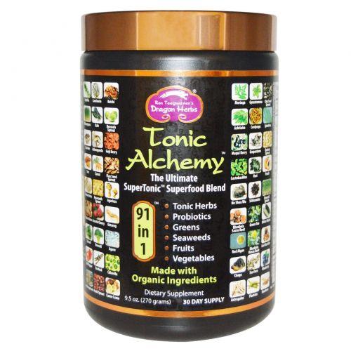 Dragon Herbs, Тоник Алхимия, смесь максимального количества суперпродуктов, 9,5 унций (270 гр)