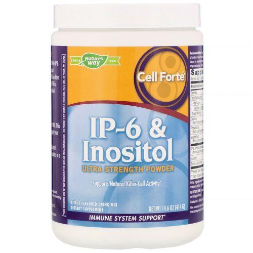 Enzymatic Therapy, Cell Forte, IP-6 и инозитол, Ультра cила, порошок, цитрусовый аромат, 14,6 унций (414 г)
