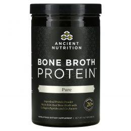 """Ancient Nutrition, """"Белок костного бульона"""", чистый белковый порошок без ароматизаторов, 15,7 унции (445 г)"""