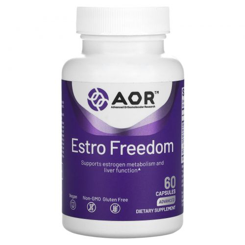 Advanced Orthomolecular Research AOR, Advanced Series, Estro Detox, 60 капсул в растительной оболочке