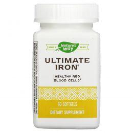 Nature's Way, Лучшее железо, здоровье женщин, 90 мягких таблеток