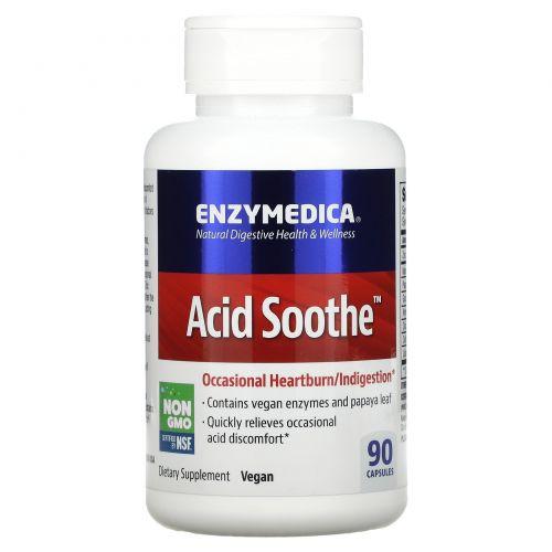 Enzymedica, Пищевая добавка Acid Soothe, 90 капсул