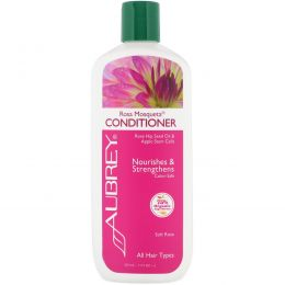 """Aubrey Organics, Кондиционер """"Чилийская роза"""", энергия и увлажнение, для всех типов волос, 11 жидких унций (325 мл)"""