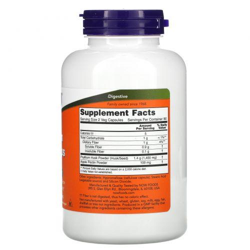 Now Foods, Шелуха семян подорожника, 700 мг, 180 капсул