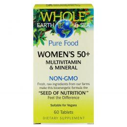 """Natural Factors, Пищевая добавка """"Непочатое море и земля"""", мультивитаминный и минеральный комплекс для женщин от 50, 60 таблеток"""